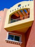 01 färgrika lägenheter Arkivbilder
