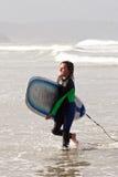 01 faceta surfingowiec Zdjęcia Royalty Free
