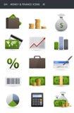 01 finansowy ikony pieniądze Obraz Royalty Free