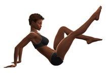01 fizycznej fitness kobieta Zdjęcie Royalty Free