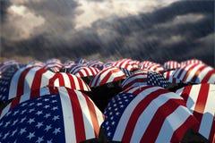 01 flaga parasol usa Obrazy Stock