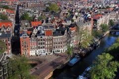 01 flyg- amsterdam Nederländerna Arkivfoton