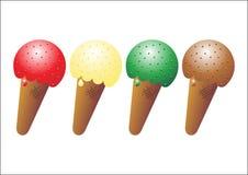 01 gelados ilustracja wektor