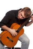 01 gitara gracz Obraz Royalty Free