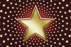 01 guldstjärnor Royaltyfri Fotografi