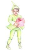 01 helper little s santa Arkivfoto