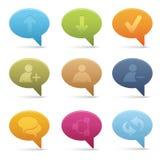 01 icona di media di chiacchierata della bolla Fotografia Stock