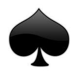 01 isolerat pokersymbol Royaltyfri Fotografi