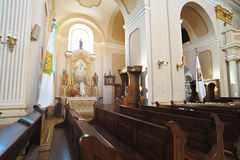 01 kościół wnętrze Zdjęcie Stock