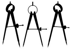 01 kompasu divider wektor Obrazy Royalty Free