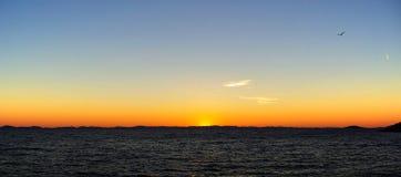 01 kornaten заход солнца стоковое фото
