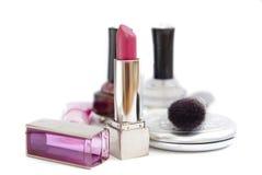 01 kosmetyków serii kobieta Obrazy Royalty Free