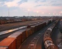 01 linii kolejowej jard Zdjęcie Royalty Free