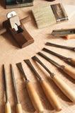 01 narzędzia drewna działanie Zdjęcie Royalty Free