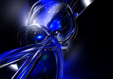 01 niebieski przewód Zdjęcie Royalty Free