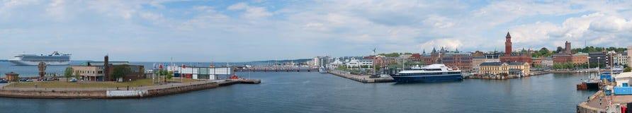 01 panorama Helsingborg Fotografia Royalty Free