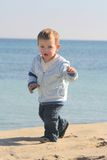 01 plażowej mały chłopiec portret Obrazy Stock