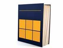 01 połowa księgowej otwartej książki Obrazy Stock
