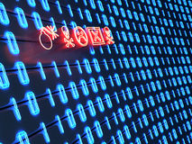 01 pojęcia technologii wirus Obrazy Stock