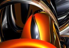 01 pomarańczę przewód chrom Obrazy Royalty Free