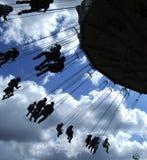 01 przejażdżkę fairground sylwetka Fotografia Royalty Free