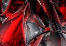 01 röda chromrør Royaltyfri Foto