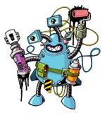01 robo - wojownik w sprayu Zdjęcia Stock
