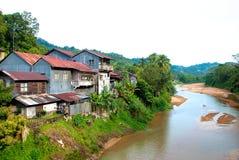 01 rzeki wioska Obraz Stock