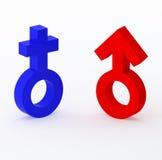 01 signes mâles femelles Photo stock