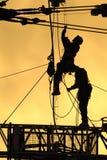 01 silhouettearbetare Fotografering för Bildbyråer