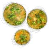 01 soups arkivbild