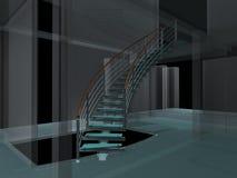 01 spiral trappuppgångar för abstrakt konstruktioner Arkivbild