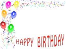 01 szczęśliwa urodzinowa karta Obraz Royalty Free