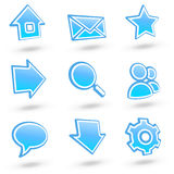 01 szklana ikona ustawiają stronę internetową royalty ilustracja