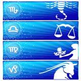 01 sztandaru ustalony zodiak ilustracji