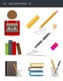 01 utbildningssymboler vektor illustrationer