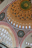 01 wnętrza meczet suleiman Fotografia Stock