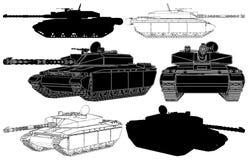 01 wojskowego zbiornika wektor ilustracji