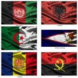 01 wyrobów włókienniczych światowej zbierania flagę Zdjęcia Royalty Free