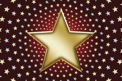 01 złocista gwiazda Fotografia Royalty Free