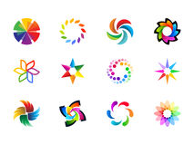 0107 Color Cycle Icons Royalty Free Stock Image