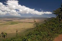 011非洲横向ngorongoro 库存照片