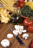 013个意大利面食系列 库存照片