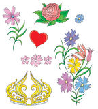 014 vårt bröllop Stock Illustrationer
