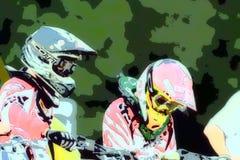 015抽象背景摩托车越野赛 免版税库存图片