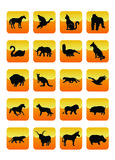 02个动物图标 免版税库存照片