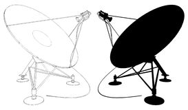 02个天线卫星向量 免版税库存图片