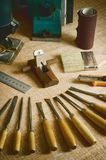 02个工具木工作 库存照片