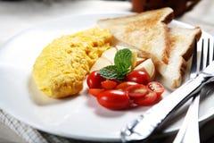 02个早餐肥胖健康低 免版税库存照片