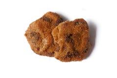 02个筹码巧克力曲奇饼 免版税库存照片